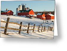Happy Acres Farm Greeting Card by Bill Wakeley