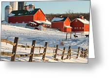 Happy Acres Farm Square Greeting Card by Bill Wakeley