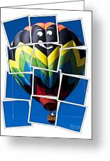 Happy Balloon Ride Greeting Card by Edward Fielding
