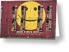 Happy Barn Greeting Card by Wendell Thompson