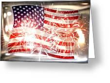 Happy Birthday America Greeting Card by Li   van Saathoff
