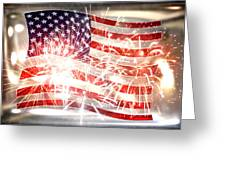 Happy Birthday America Greeting Card by Li   van Saathoff