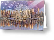Happy Birthday America Greeting Card by Susan Candelario