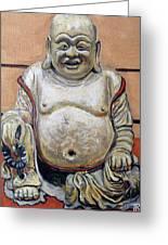 Happy Buddha  Greeting Card by Tom Roderick