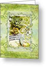 Happy Easter 3 Greeting Card by Mo T
