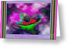 Happy Easter Abstract Greeting Card by Andrew Govan Dantzler