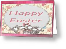 Happy Easter Basket Greeting Card by Debra     Vatalaro