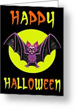 Happy Halloween Bat Greeting Card by Amy Vangsgard