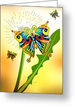Happy Hippie Butterflies Greeting Card by Bob Orsillo