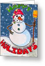 Happy Holidays Greeting Card by Jame Hayes