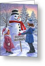 Happy Holidays Greeting Card by Richard De Wolfe
