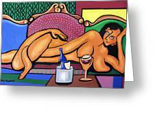 Happy Hour Greeting Card by Anthony Falbo