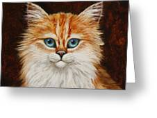 Happy Kitty Greeting Card by Crista Forest