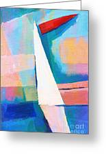 Happy Sailing Greeting Card by Lutz Baar