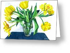 Happy Spring Greeting Card by Barbara Jewell