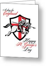 Happy St George Day A Day For England Retro Poster Greeting Card by Aloysius Patrimonio