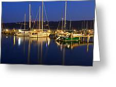 Harbor Nights Greeting Card by Frozen in Time Fine Art Photography