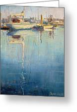 Harbor Reflection Greeting Card by Sharon Weaver