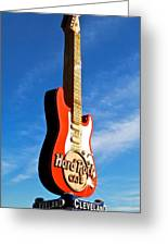 Hard Rock Cafe Cleveland Greeting Card by Frozen in Time Fine Art Photography