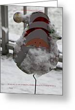Hardworking Santa Greeting Card by Sonali Gangane