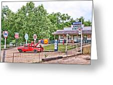 Hardy Station Greeting Card by Audreen Gieger-Hawkins
