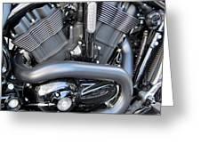 Harley Close-up Engine Close-up 1 Greeting Card by Anita Burgermeister