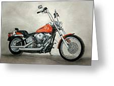 Harley Davidson Greeting Card by Heather Gessell