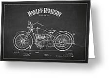 Harley Davidson Motorcycle Cycle Support Patent Drawing From 192 Greeting Card by Aged Pixel