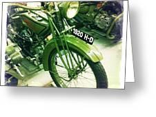 Harley Davidson Greeting Card by Nina Prommer