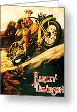 Harley Davidson Greeting Card by Pg Reproductions