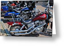 Harley Davidson Greeting Card by Frozen in Time Fine Art Photography