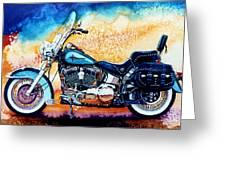 Harley Hog i Greeting Card by Hanne Lore Koehler