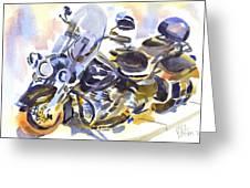 Harley In Watercolor Greeting Card by Kip DeVore