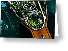 Harley Tank In Oils Greeting Card by Chris Berry