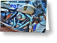 Harleys In Cincinnati 2 Greeting Card by Mel Steinhauer