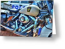 Harleys In Cincinnati 2 Greeting Card by Mel Steinhauer
