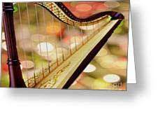 Harp Greeting Card by Cheryl Young