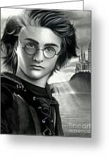 Harry Potter And The Goblet Of Fire Greeting Card by Crystal Rosene