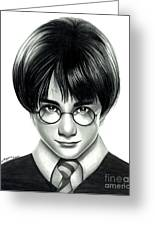 Harry Potter And The Philosopher's Stone Greeting Card by Crystal Rosene