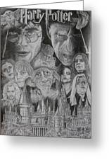 Harry Potter Montage Greeting Card by Mark Harris