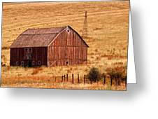 Harvest Barn Greeting Card by Mary Jo Allen