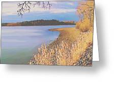 Harvest Lake Greeting Card by SophiaArt Gallery