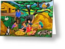 Harvest Time Greeting Card by Cyril Maza