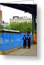 Hasidic Jews In New York Greeting Card by Heart On Sleeve ART