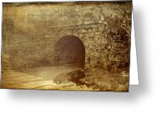 Haunted Tunnel Greeting Card by Kathy Jennings