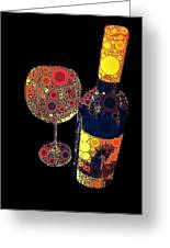 Have Some Wine Greeting Card by Cindy Edwards
