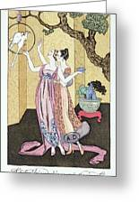 Have You Had A Good Dinner Jacquot? Greeting Card by Georges Barbier