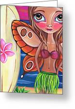 Hawaiian Fairy Greeting Card by Jaz Higgins