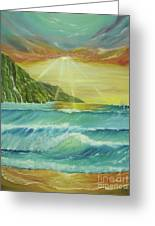 Hawaiian Sunset Greeting Card by Gigi  Cook