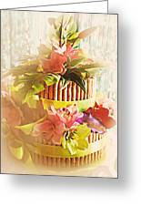 Hawaiian Wedding Cake Greeting Card by Susan Bordelon